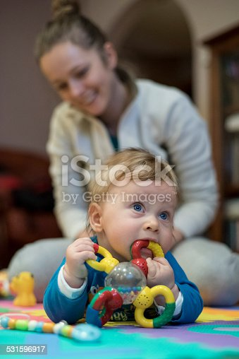 istock Little boy Playing with her mother 531596917