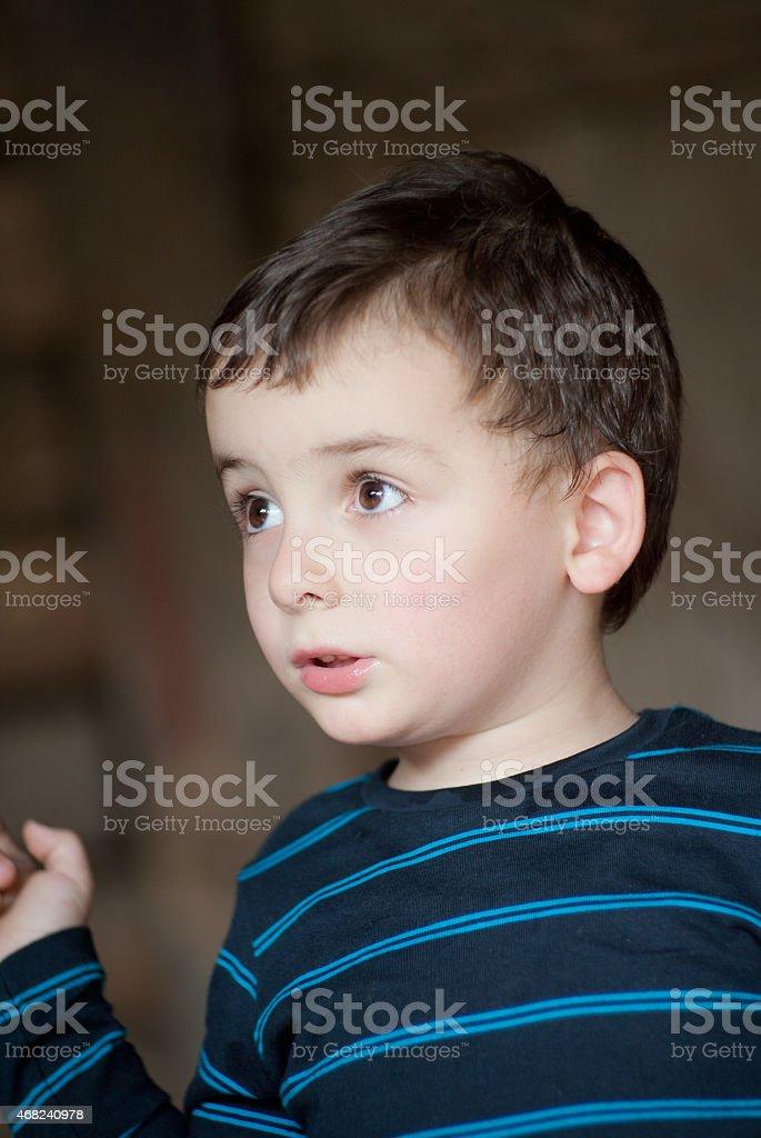 Little Boy Portrait stock photo
