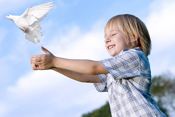 Little boy releasing a white pigeon in the sky picture id92235853?b=1&k=6&m=92235853&s=612x612&w=0&h=2muzgd4bg7i1uat13edcas opoqphqukueqgvd5 nao=