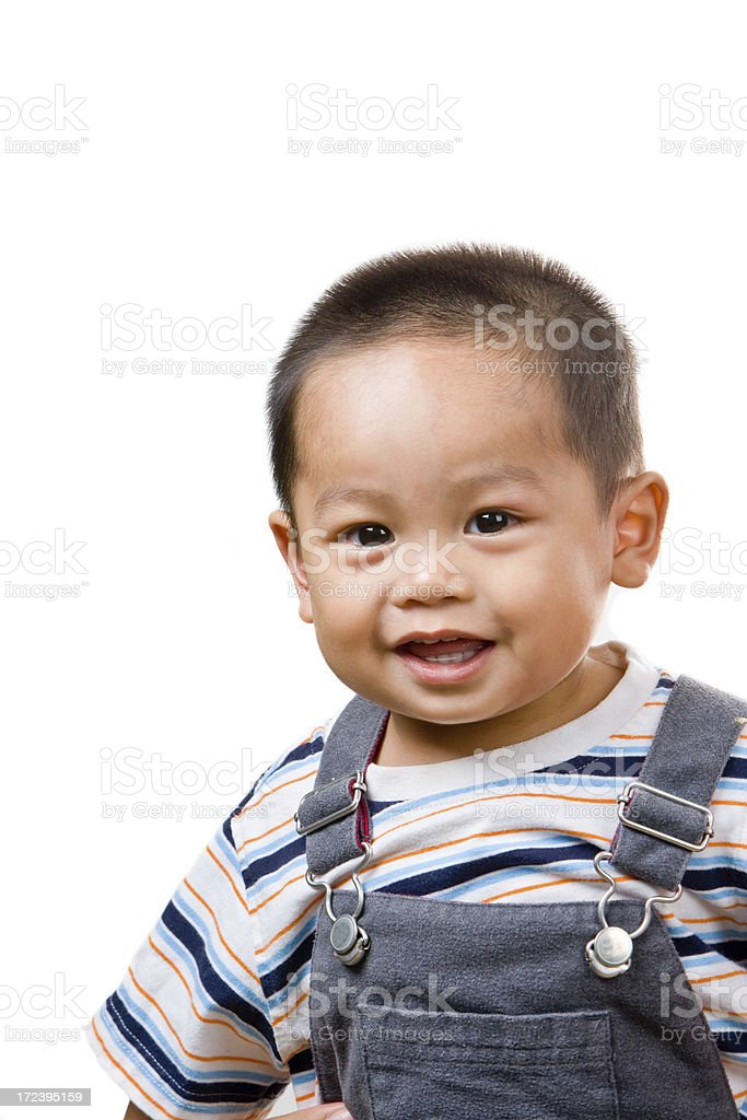 little boy says cheese royalty-free stock photo
