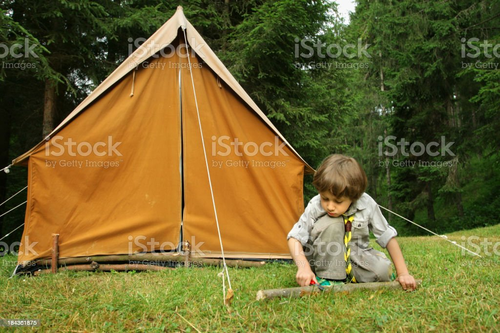 Little boy scout - foto de stock