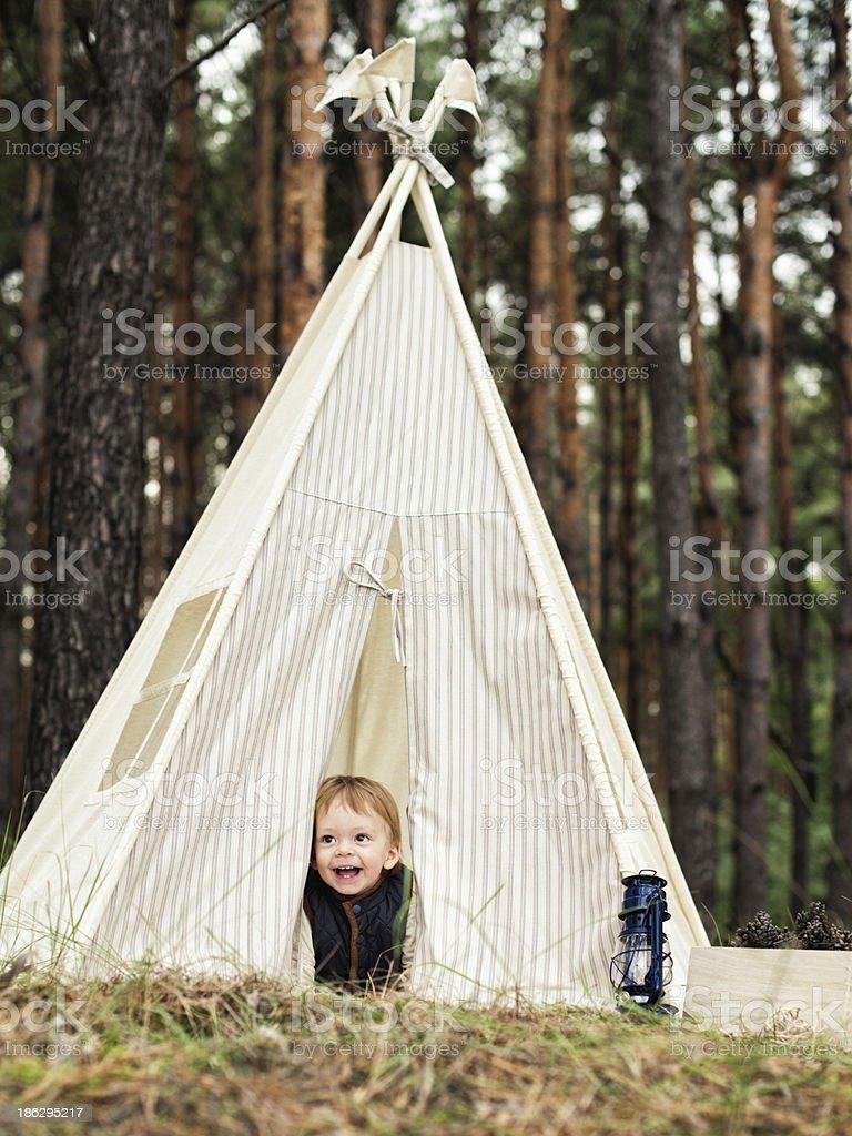 little boy scout royalty-free stock photo