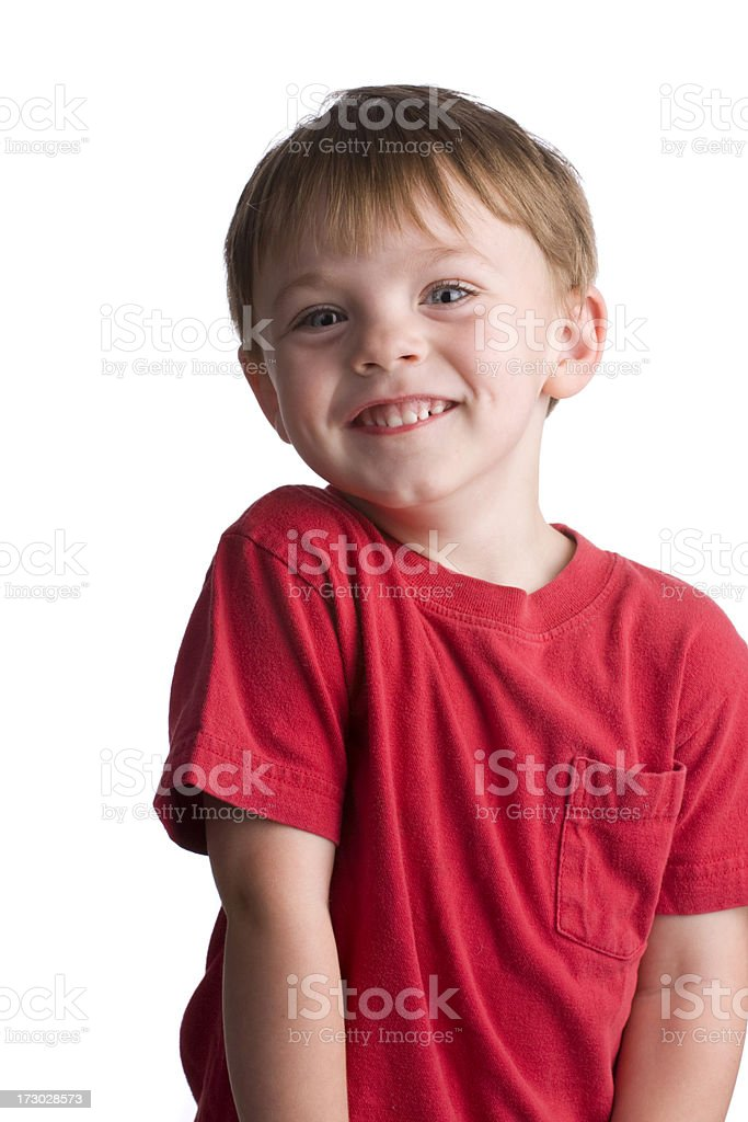 Little boy smiles at the camera royalty-free stock photo