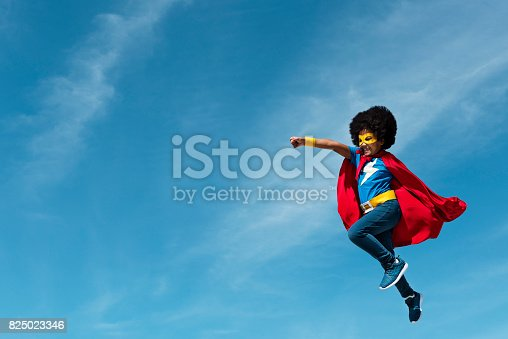 istock Little Boy Super Hero Concept 825023346