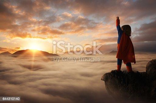 istock Little boy superhero 644310140