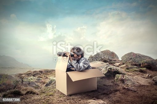 istock Little boy with an obstacle 638887396