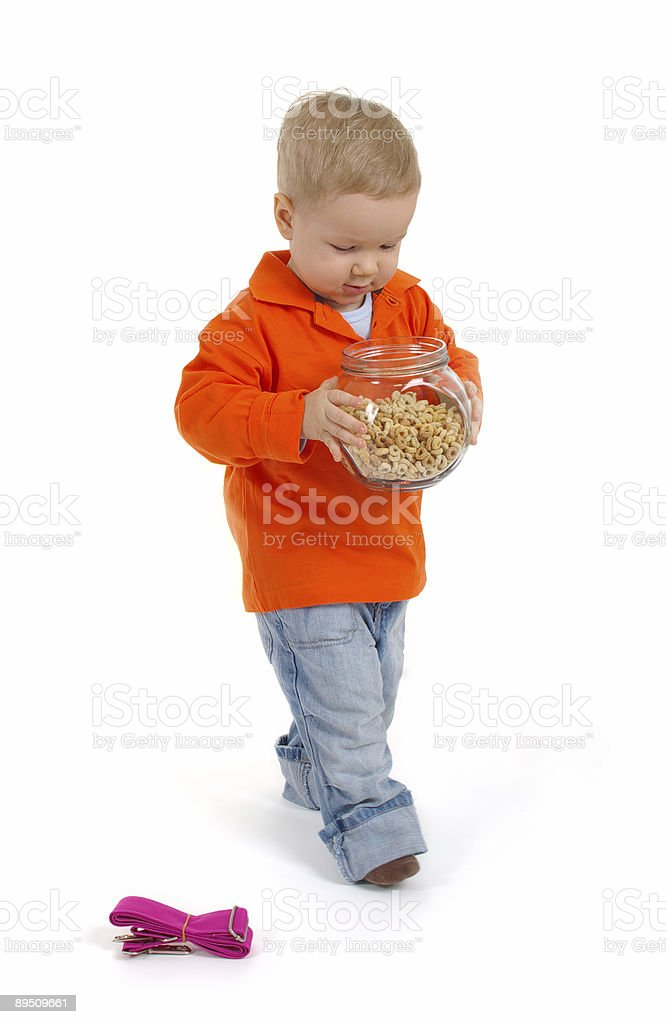 Little boy with crisp royalty-free stock photo