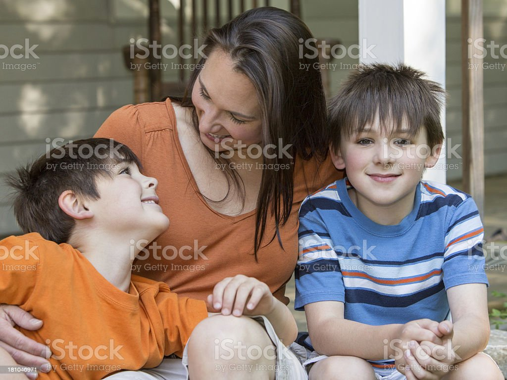 Little Boy with Family royalty-free stock photo