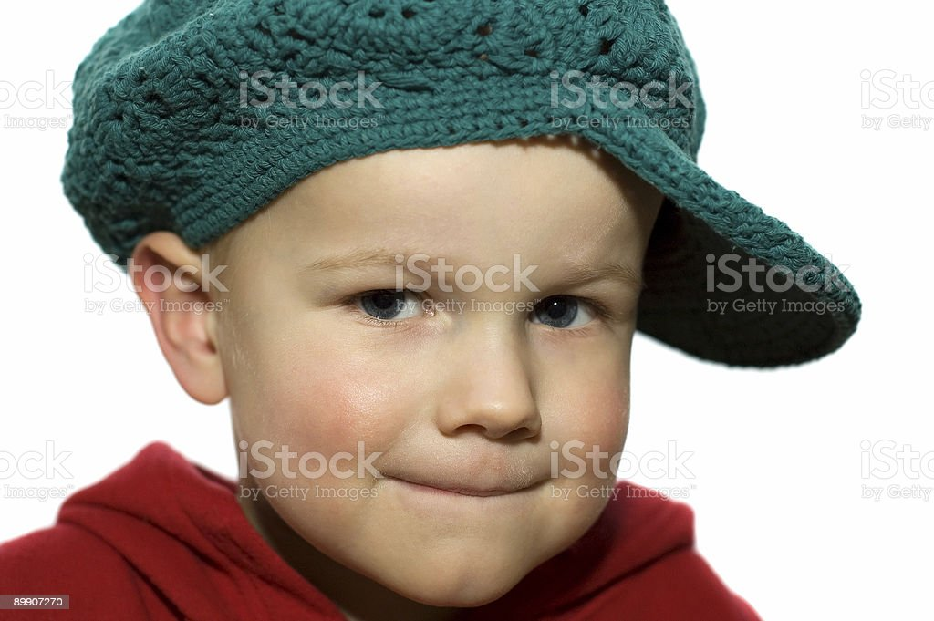 Little Boy with Hat 3 royalty-free stock photo