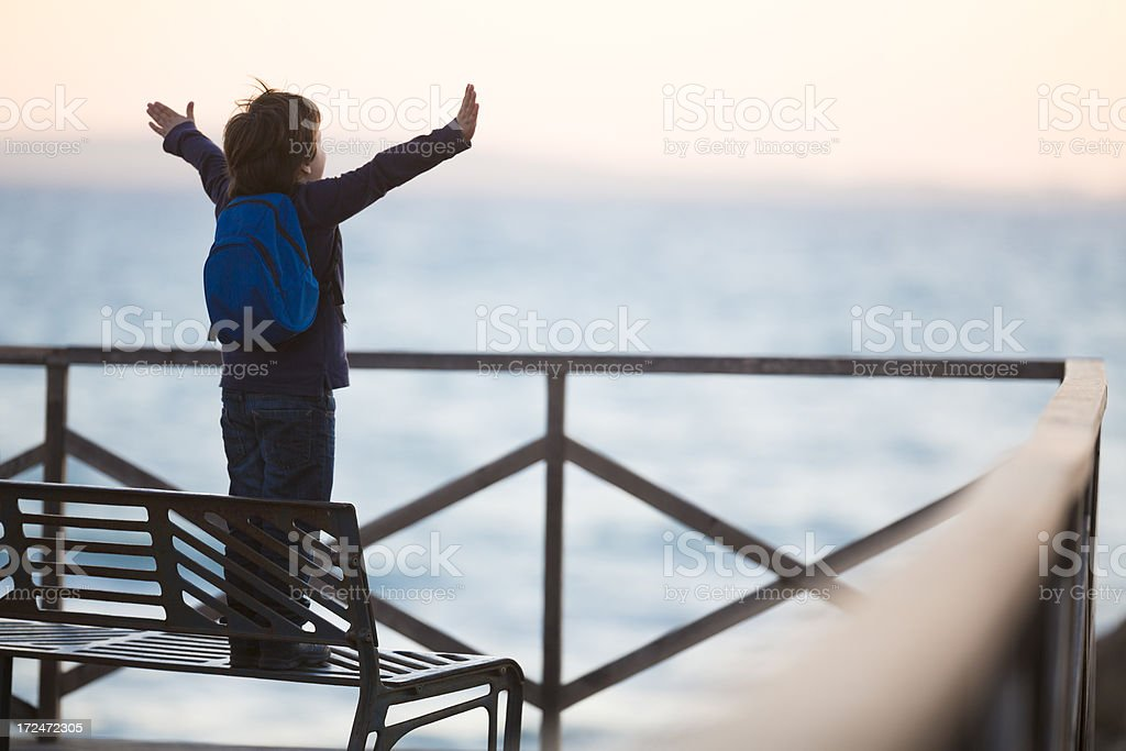 little boy with open arms royalty-free stock photo