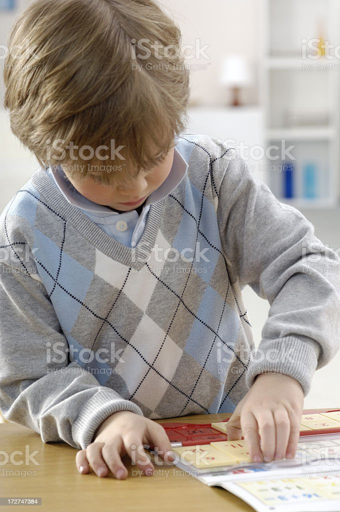 Little boy with pre school game royalty-free stock photo