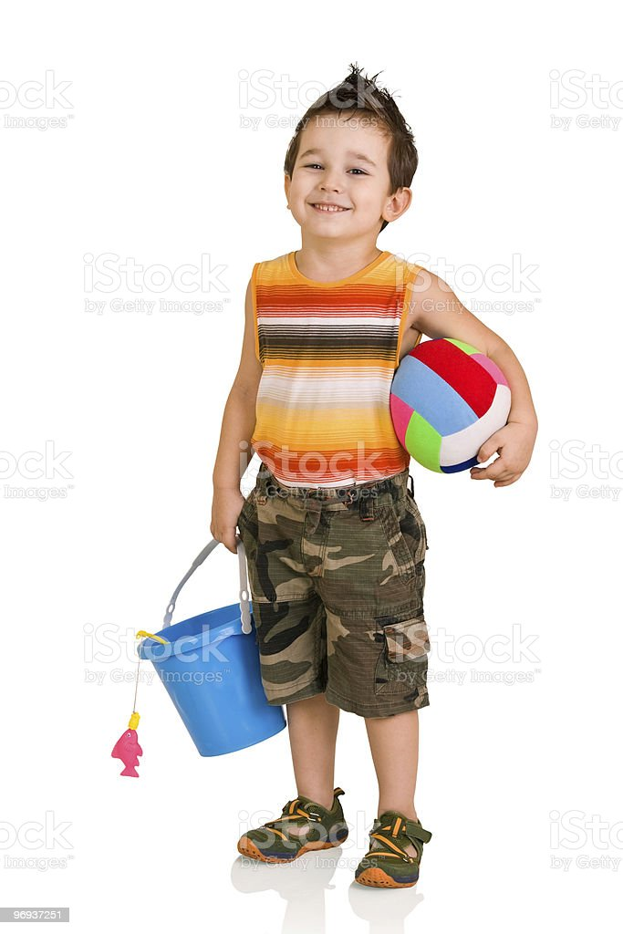 little boy with toys royalty-free stock photo