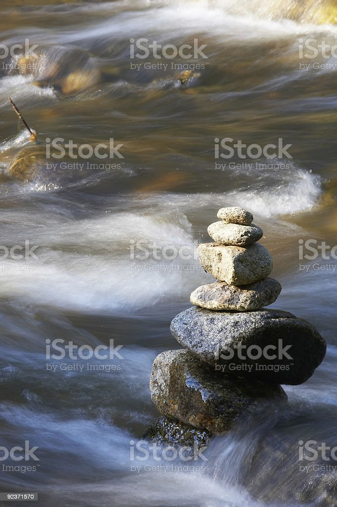 little brook with rocks royalty-free stock photo