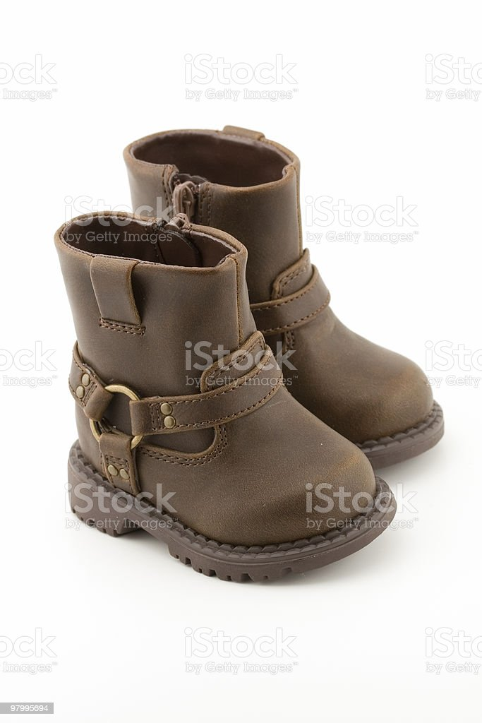 Little Brown Baby Boots royalty-free stock photo