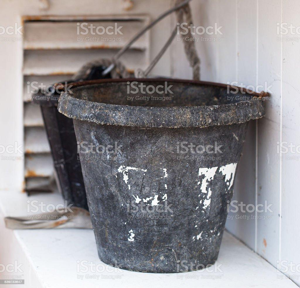 Little Bucket on White royalty-free stock photo