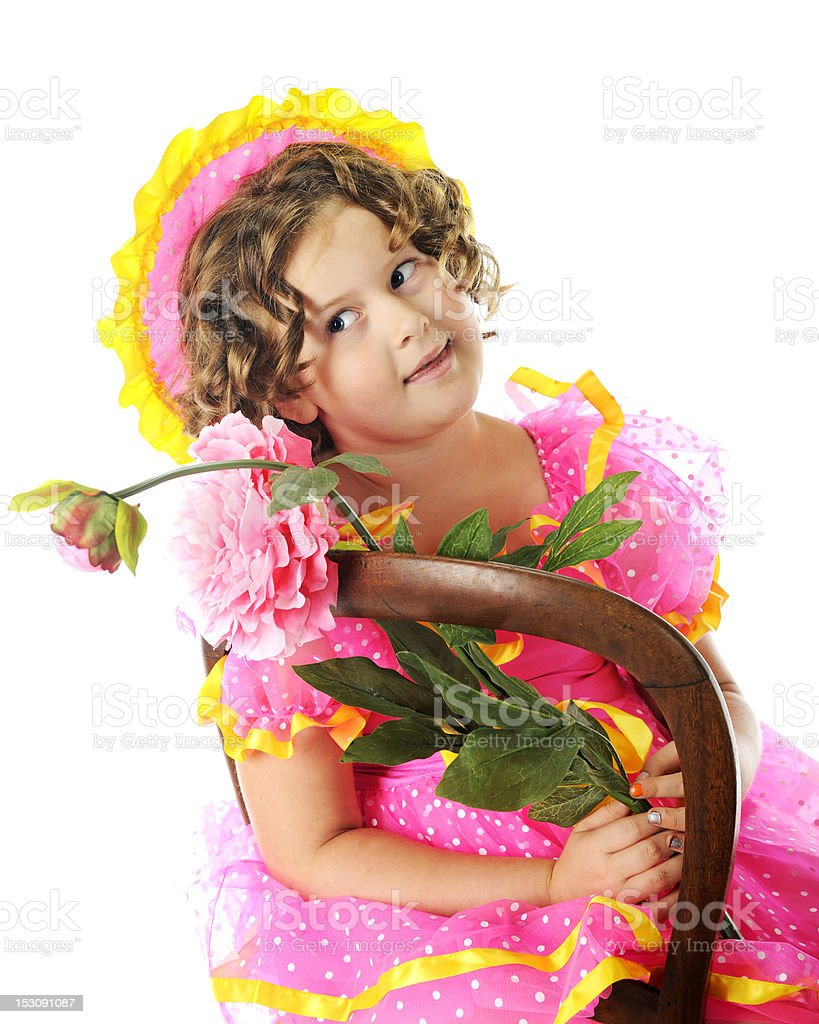 Little Bud-Watching Actress royalty-free stock photo