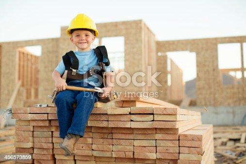 istock Little Builder 456573859