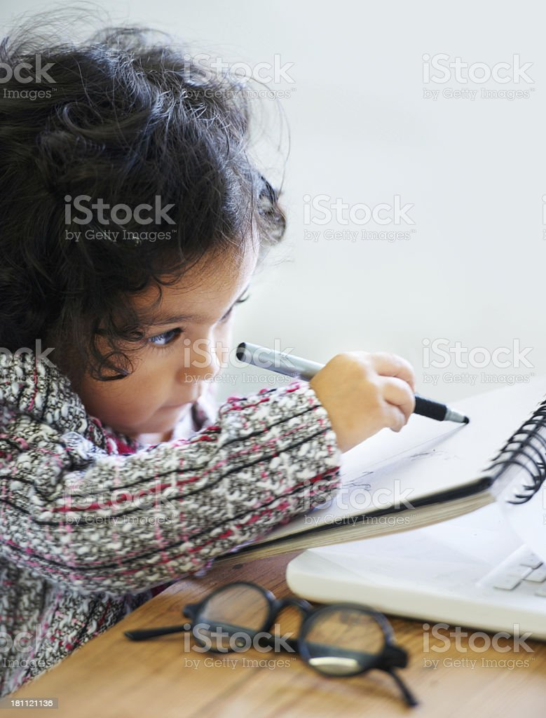 Little business girl royalty-free stock photo