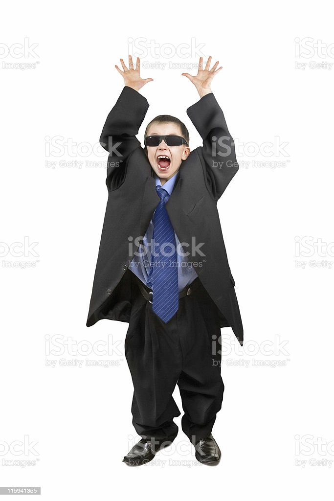Little businessman royalty-free stock photo