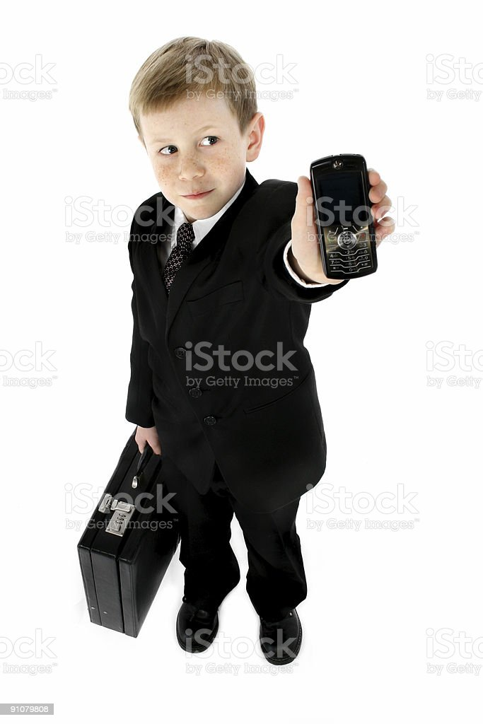 Little Businessman royalty-free stock photo