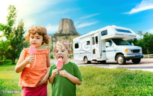 Little Campers on Motorhome Road Trip though western usa