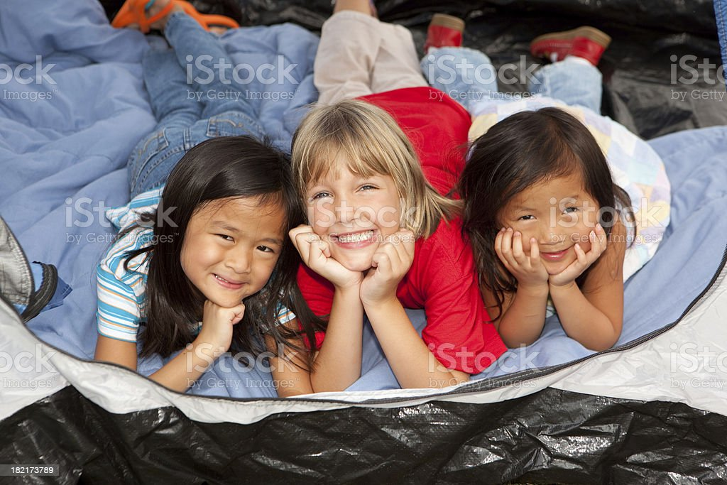 Little Campers royalty-free stock photo