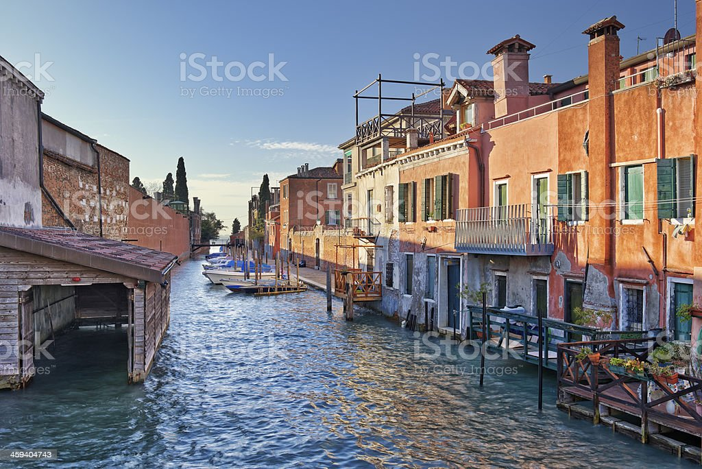 Little Canal in Venice royalty-free stock photo