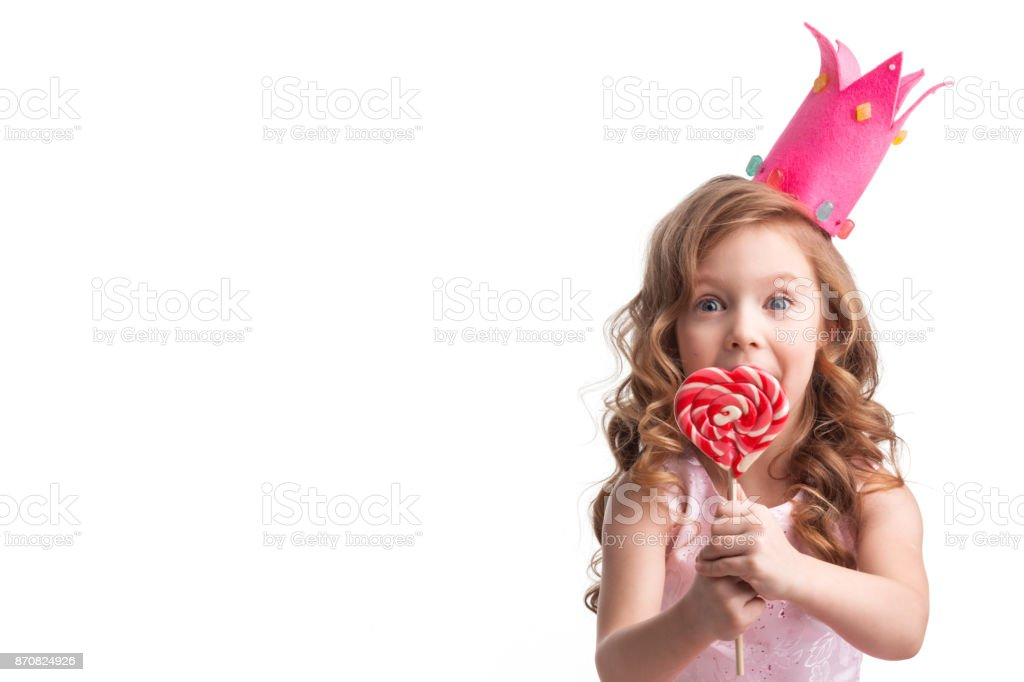 Little candy princess stock photo