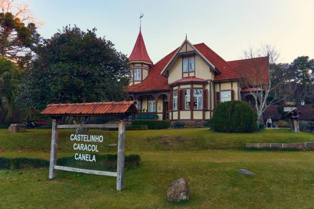 Kleine Burg in der Stadt Canela - Museum am Straßenrand. – Foto