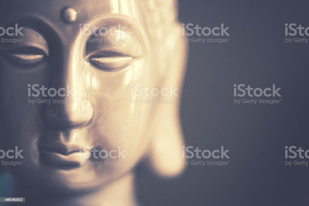 Little ceramic Buddha stock photo