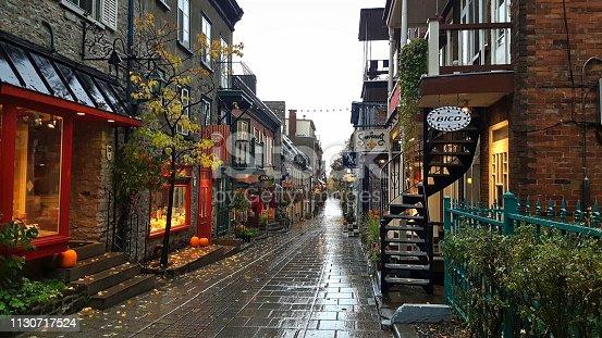 Rue du Petit Champlain in Quebec, Canada