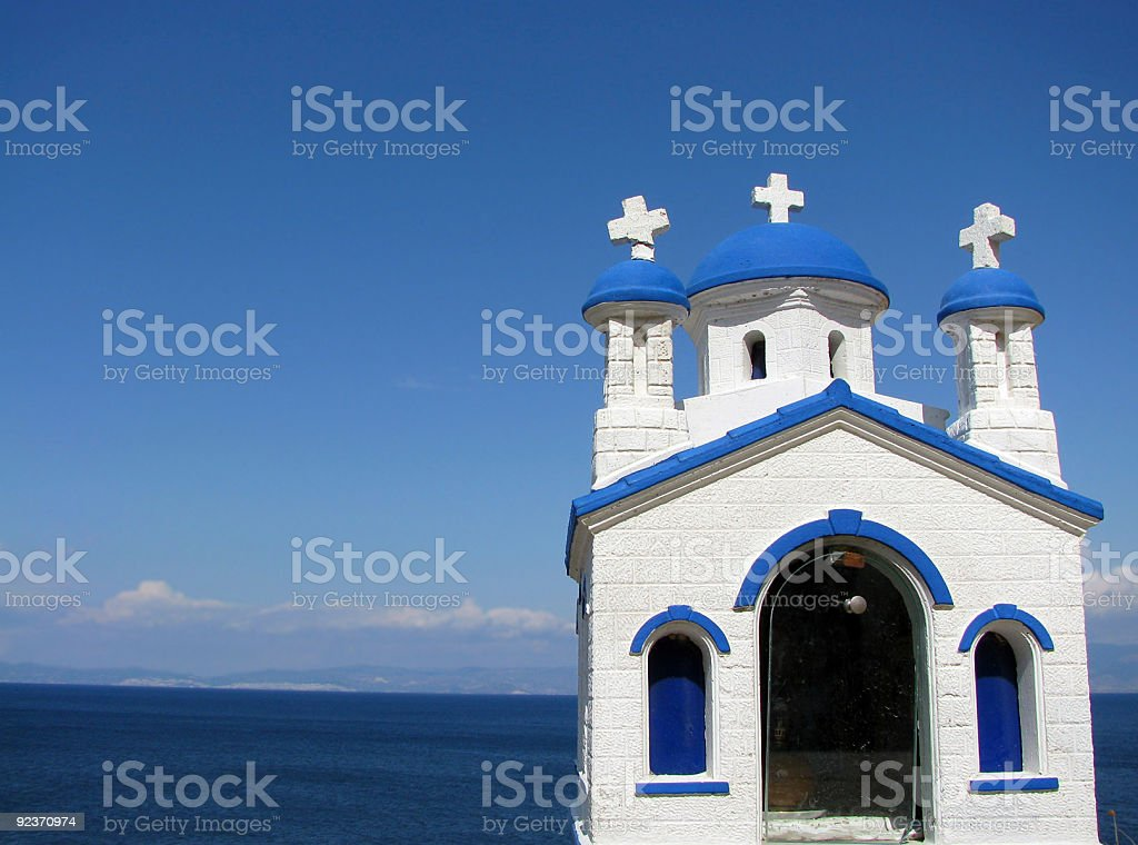 Little chapel by the sea royalty-free stock photo