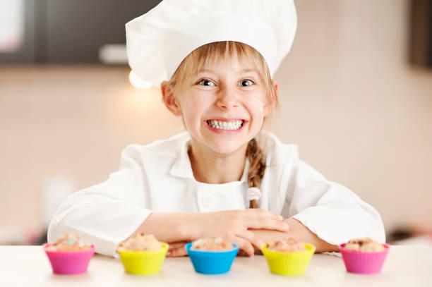 Little Chefkoch und Ihre cupcakes – Foto