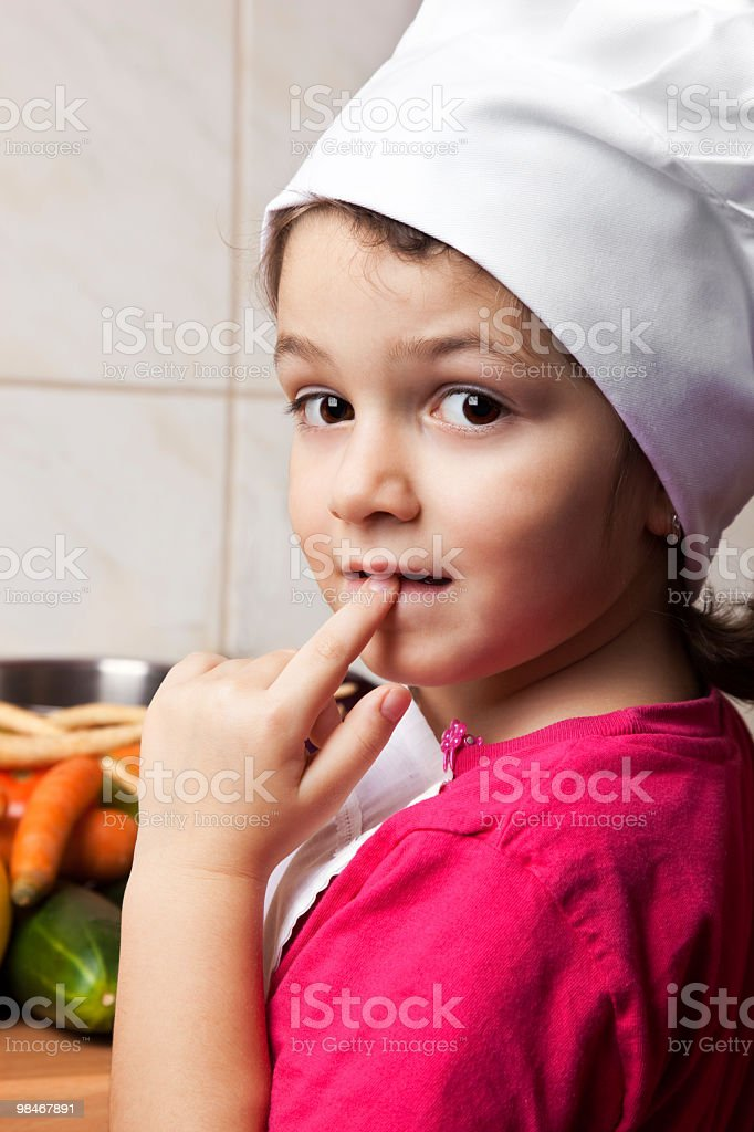 Little chef girl royalty-free stock photo
