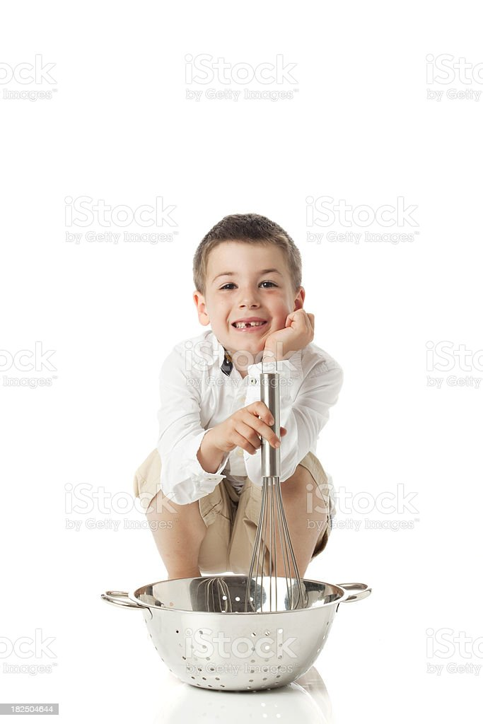 Little Chef on White. stock photo