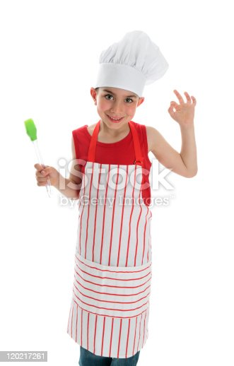 istock Little chef with okay hand sign 120217261