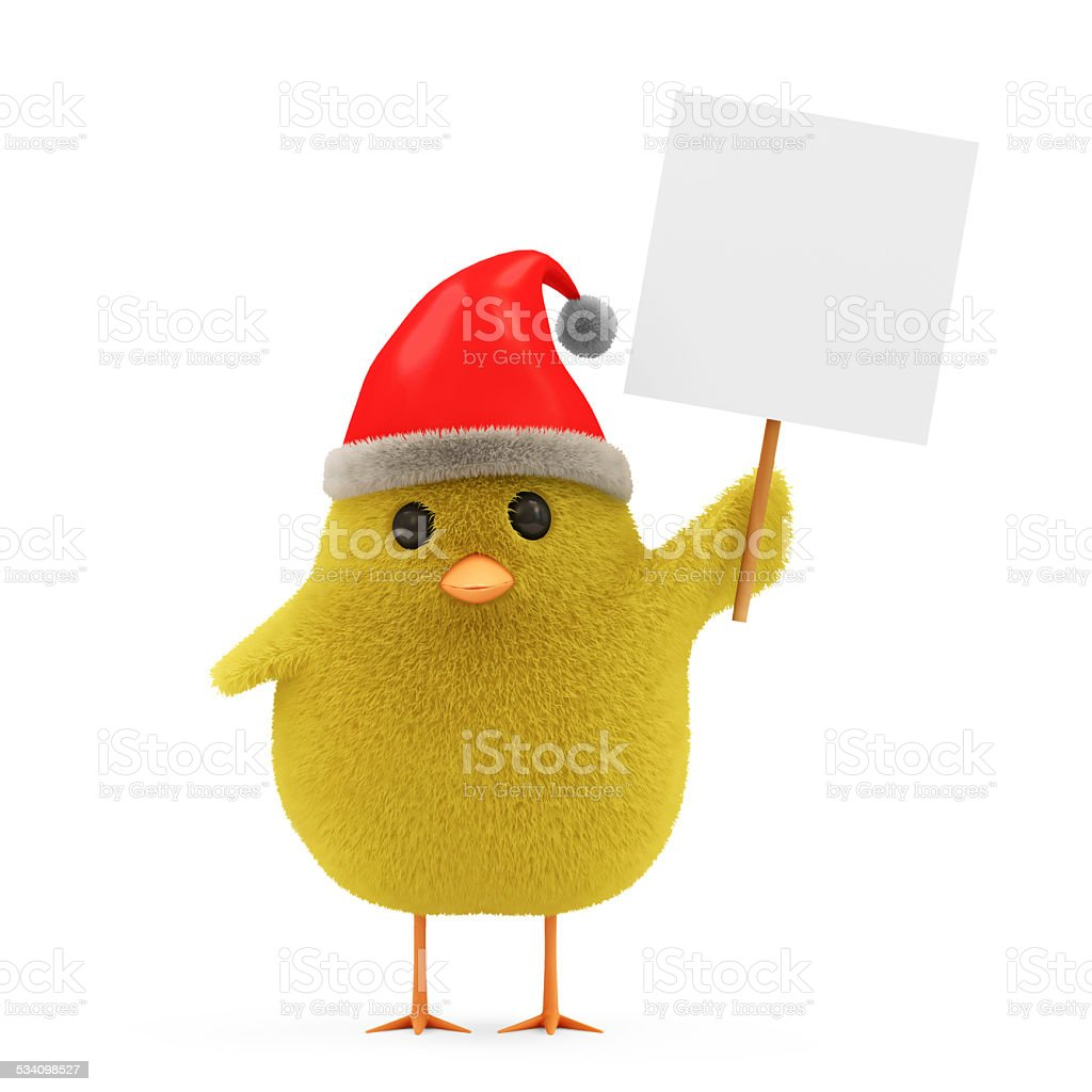 ecf30ac932271 Little pollo Santa con sombrero blanco de planchar y foto de stock libre de  derechos