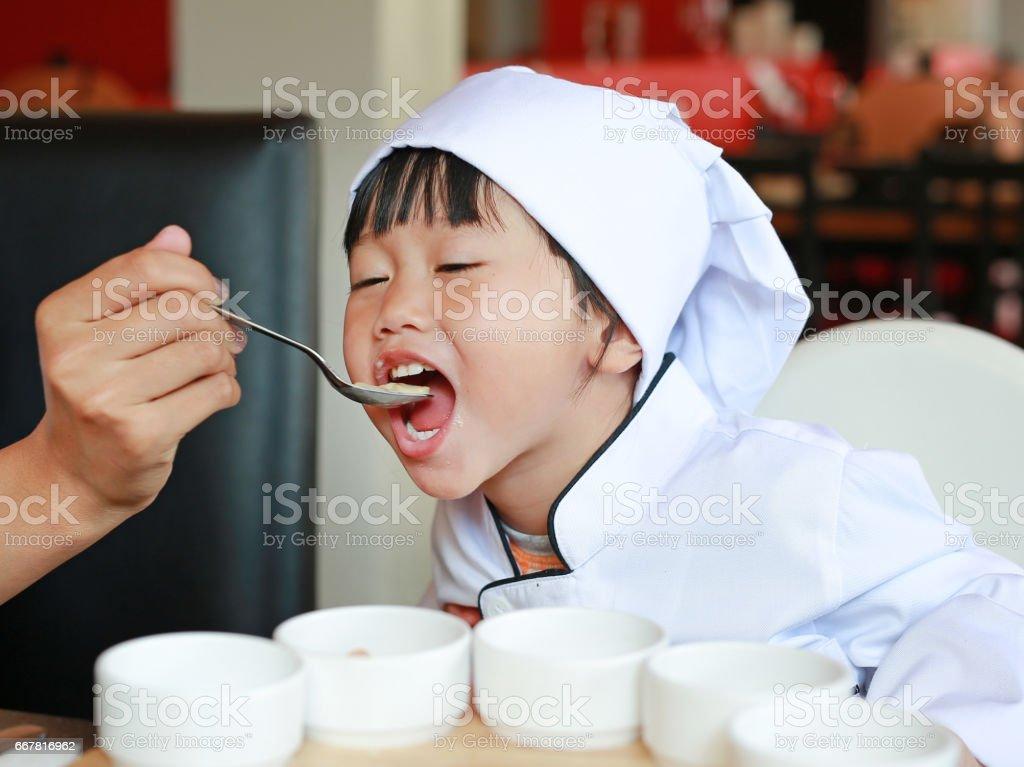 Petit chef est apprendre à manger des plats savoureux. - Photo