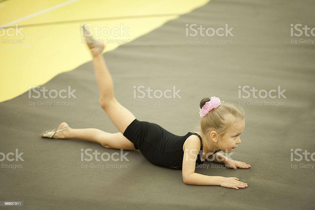 Little child gymnast royalty-free stock photo