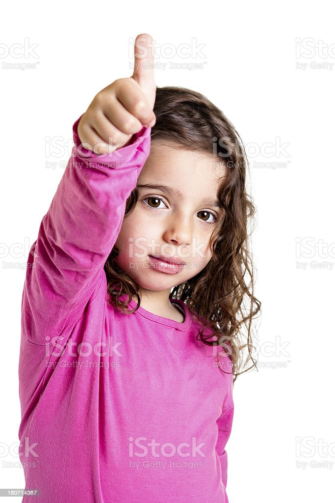 Little child with thumbs up royalty-free stock photo