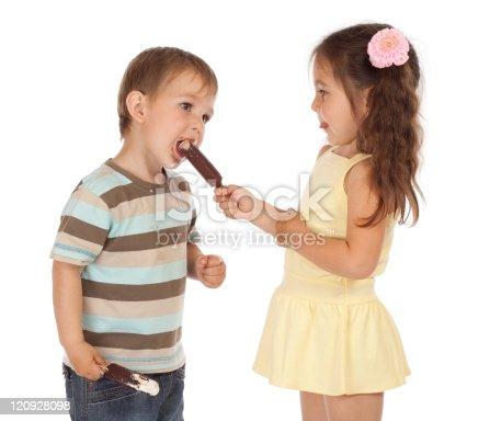 958492394 istock photo Little children with ice cream 120928098