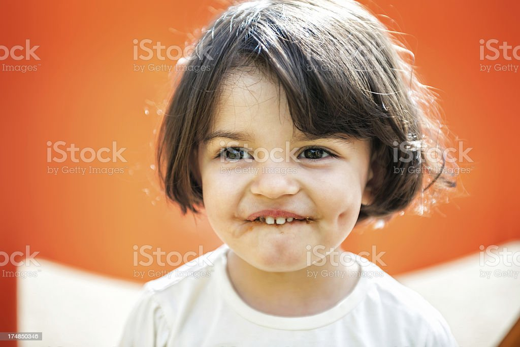 Little Chocolate Lover royalty-free stock photo
