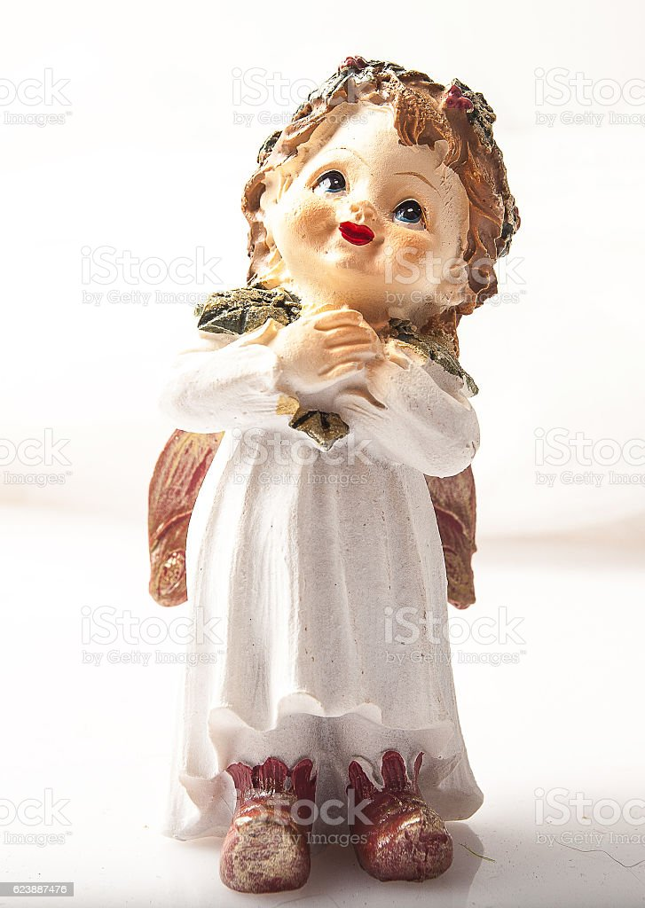 Little clay angel. stock photo