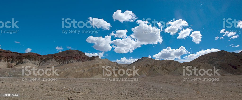 Little clouds over desert landscape of Death Valley, California royalty-free stock photo
