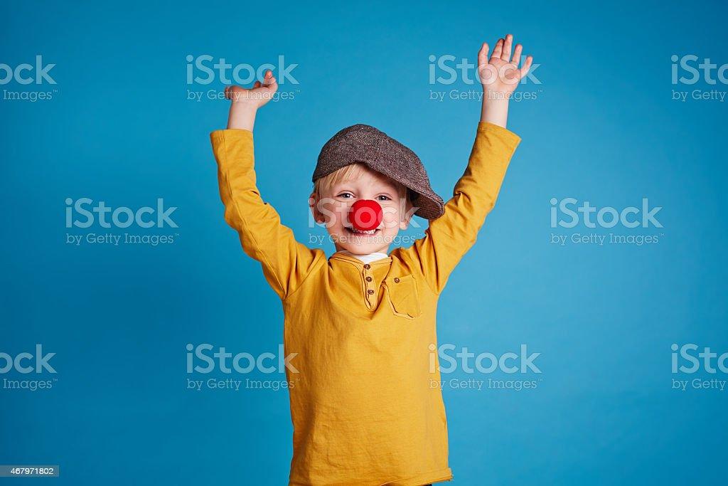 Little clown stock photo