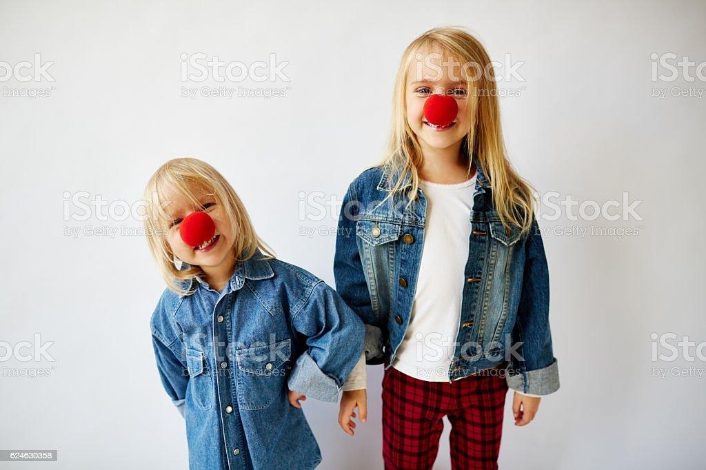 little clowns stock photo