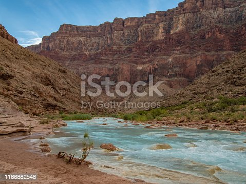The beautiful blue Little Colorado River in Grand Canyon National Park