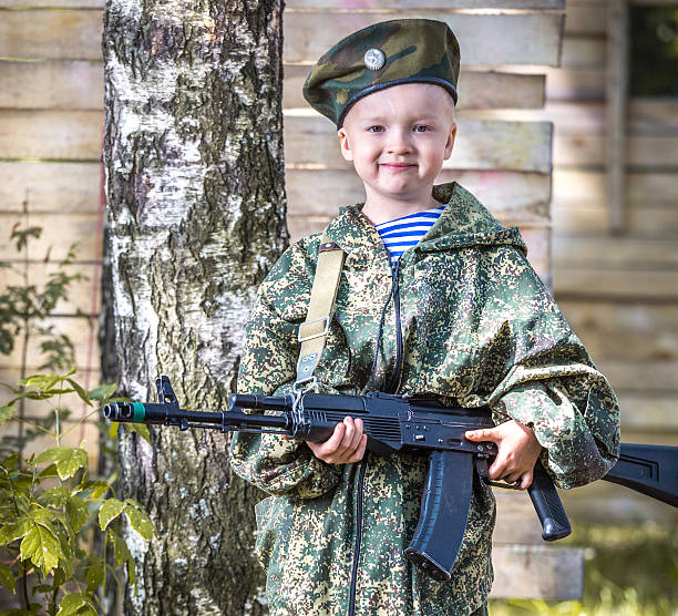 Little commandos stock photo