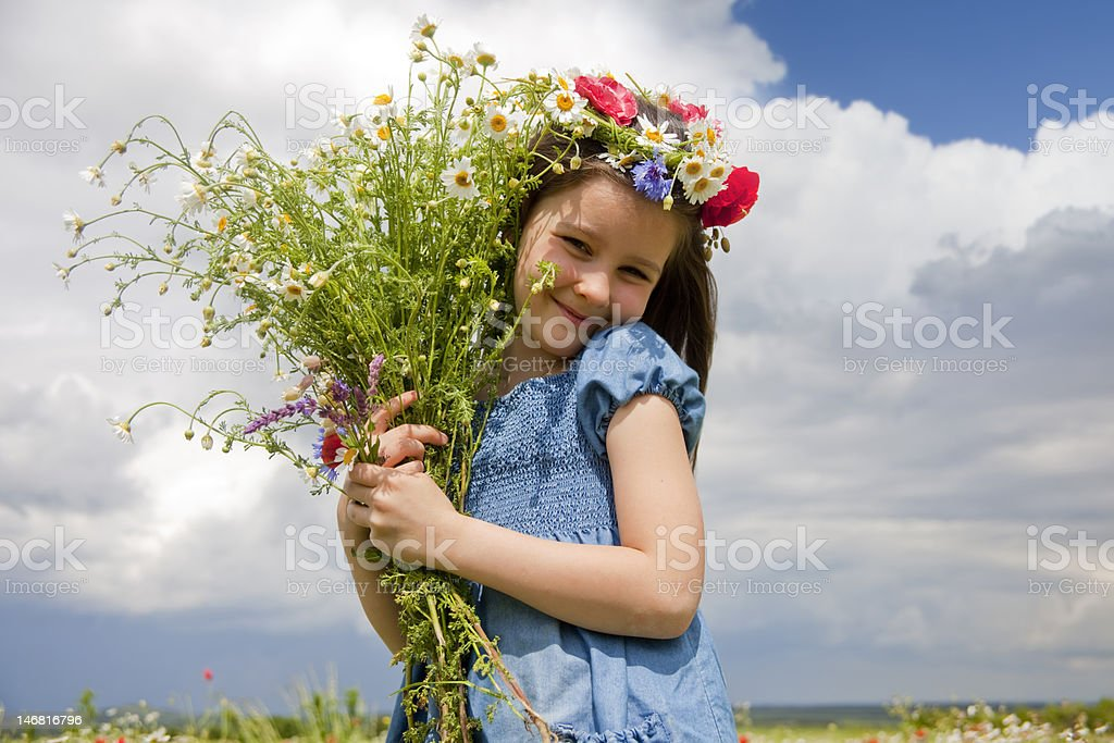 Little country girl royalty-free stock photo