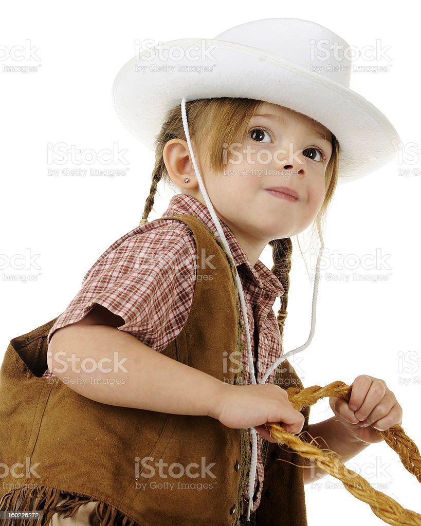 Little Cowbirl Rider royalty-free stock photo